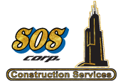 SOS Corp. Construction Services Logo